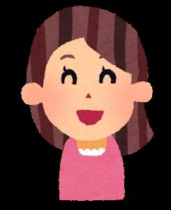 woman01_laugh 女性 笑った顔